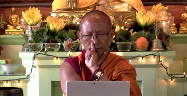 Geshe Namgyal teaching.