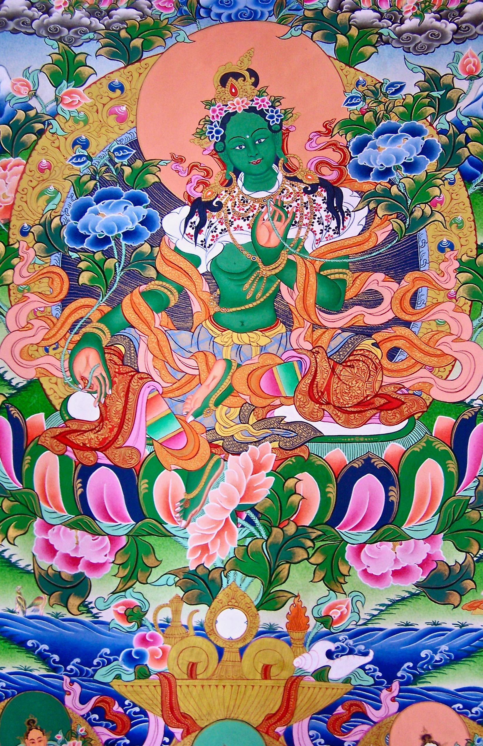 Green Tara 3: Buddhas And Deities