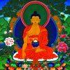 Thangka image of Shakyamuni Buddha.