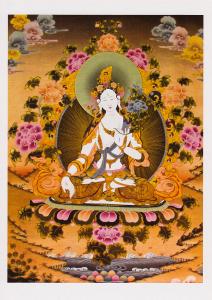 Thangka image of White Tara.
