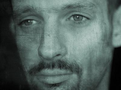 Closeup of face of man contemplating.