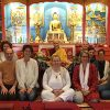 Group photo of retreatants with Venerable Chodron at Semkye Ling.
